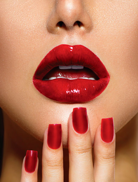 RedSexyLipsNails